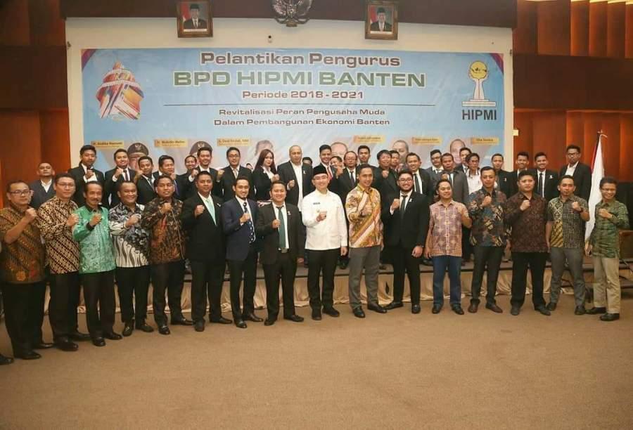 Pelantikan HIPMI Banten, Wagub Andika Ajak Anak Muda Berwirausaha