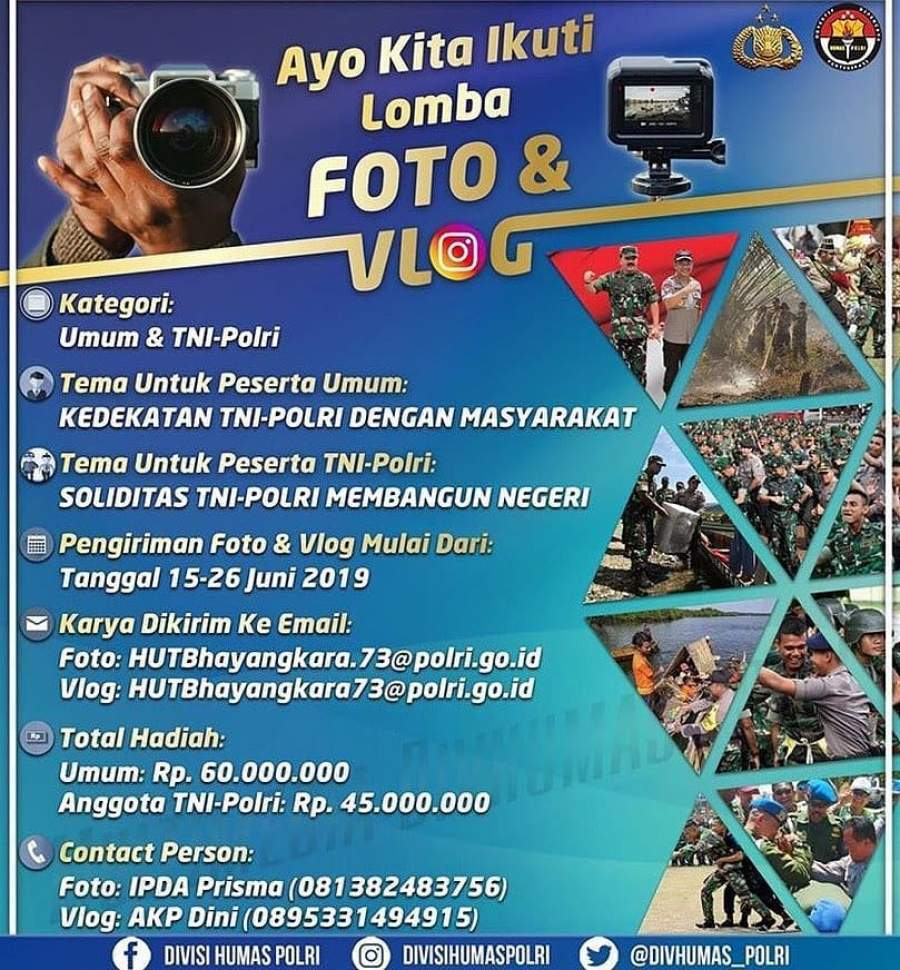 Hari Bhayangkara ke 73, Polda Banten Adakan Lomba Foto dan Vlog Untuk Umum