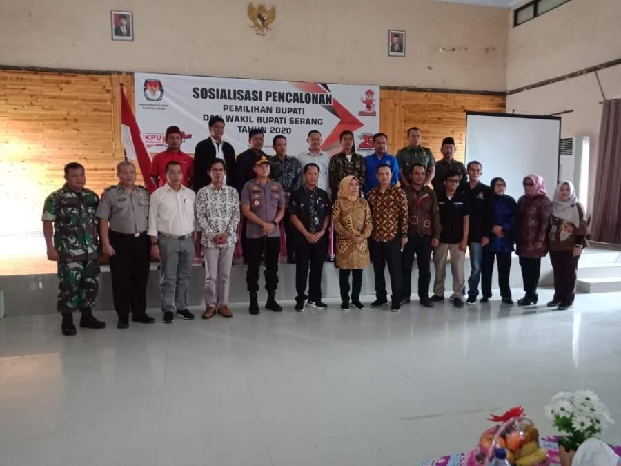KPU Kabupaten Serang Sosialisasi Pencalonan Bupati dan Wakil Bupati Serang
