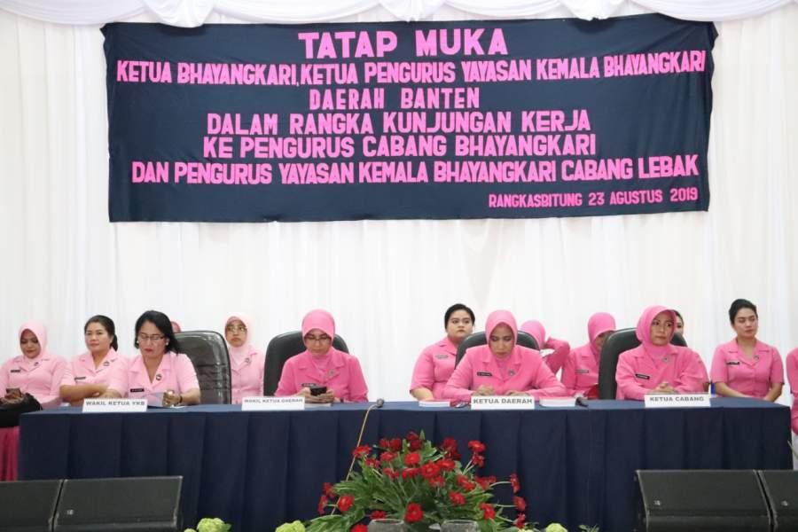 Ketua Bhayangkari Daerah Banten, Gelar Tatap Muka Dengan Bhayangkari Cabang Lebak