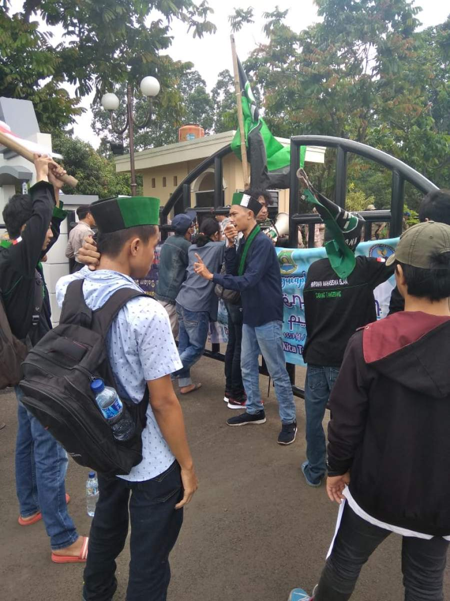 HMI Tuntut Pemkot Tangerang Tepat Sasaran Dalam Penggunaan APBD