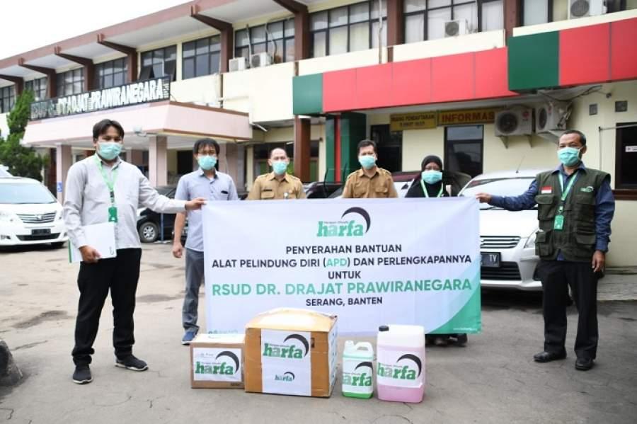 Laz Harfa Banten Bantu Distribusikan APD di Rumah Sakit Rujukan Covid 19