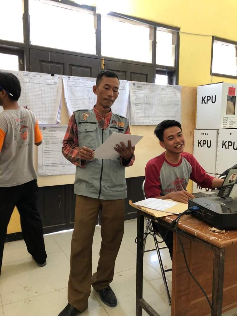 Partisipasi Pemilih di Kecamatan Mekar Baru Capai 70 Persen Lebih