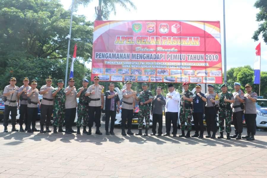 Persiapaan Kampanye Umum, Polda Banten Gelar Apel Pasukan Pengamanan Pemilu 2019