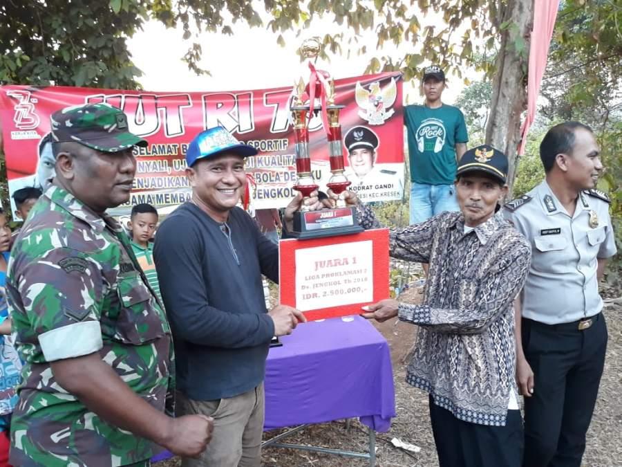 Meriahkan HUT RI, Desa Jengkol Gelar Kompetisi Sepak Bola Antar RT dan RW