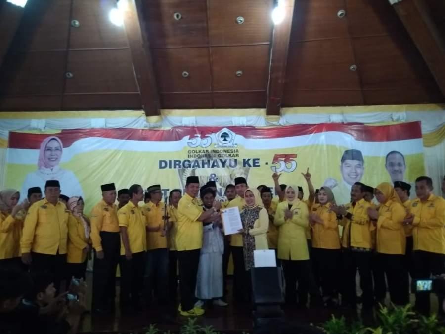 Golkar Putuskan Tatu Chasanah Sebagai Calon Bupati Serang 2020 - 2025