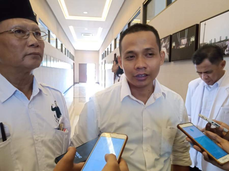 Abdul latif saat memaparkan visi misi di partai Gerindra Banten