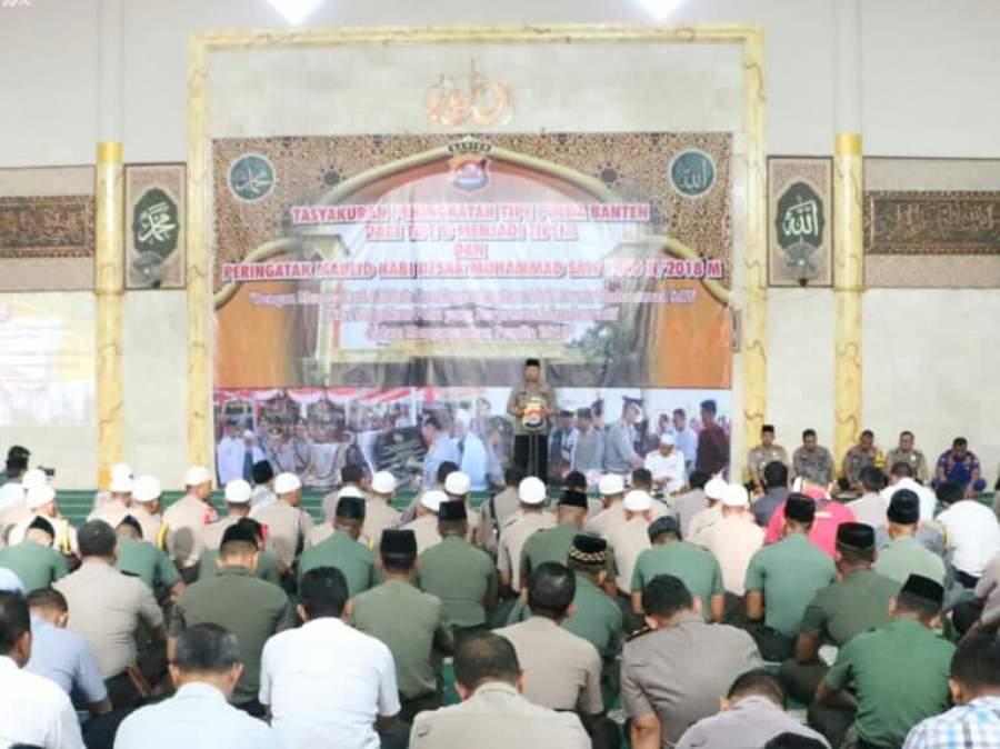 Kapolda Banten Ajak Teladani Sifat Nabi Muhammad SWT