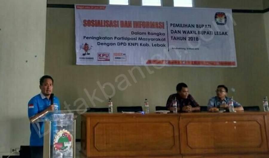 KPU Sosialisasikan Pilkada kepada DPD KNPI Lebak