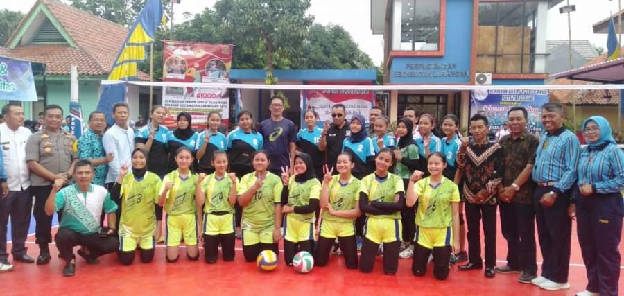 Open Turnamen Volley Ball Putri Rangkaian HUT RI Ke-74 Kecamatan Larangan