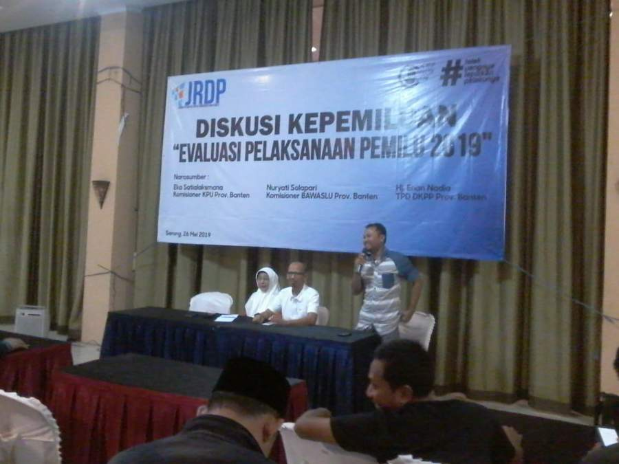 JRDP Menilai, Pelaksanaan Pemilu 2019 Alami Kemunduran Dari Pemilu Sebelumnya