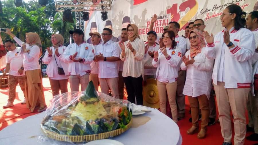 Rayakan Hari jadi ke-12 DPC Partai Gerindra Tangsel gelar acara bersama kader dan masyarakat di BSD, Serpong, Tangsel. (23/2/2020)