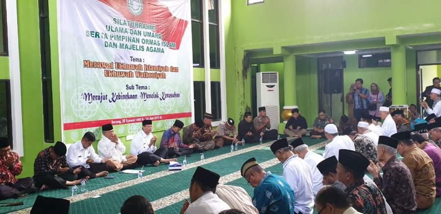 Kapolda Banten, Halal Bihalal Dengan Tokoh Ulama dan Pimpinan Ormas Islam Se Banten untuk Merajut Kebhinekaan