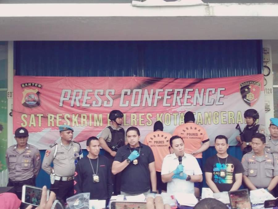 Polresta Tangerang Bekuk Pelaku Sindikat Perakitan Hp Rekondisi