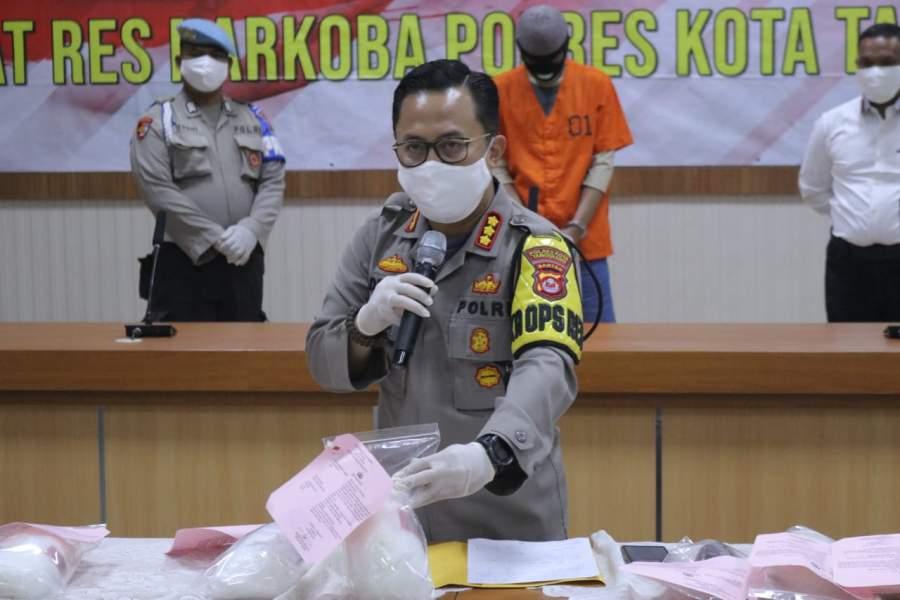 Bekuk Pengedar, Polresta Tangerang Amankan Sabu Seberat 9,4 Kilogram Lebih