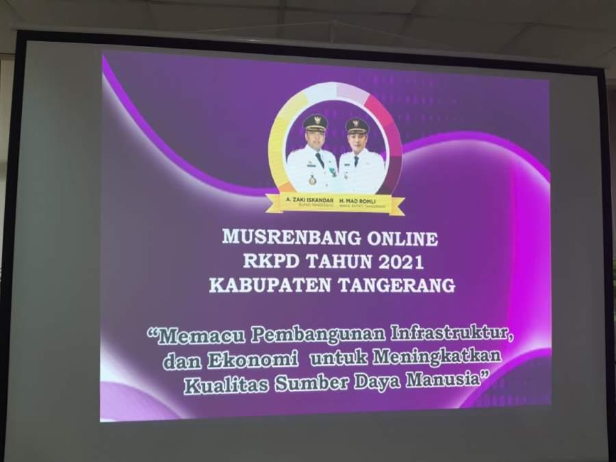 Kabupaten Tangerang RKPD 2021 Fokus Pembangunan Ekonomi dan Insfrastruktur