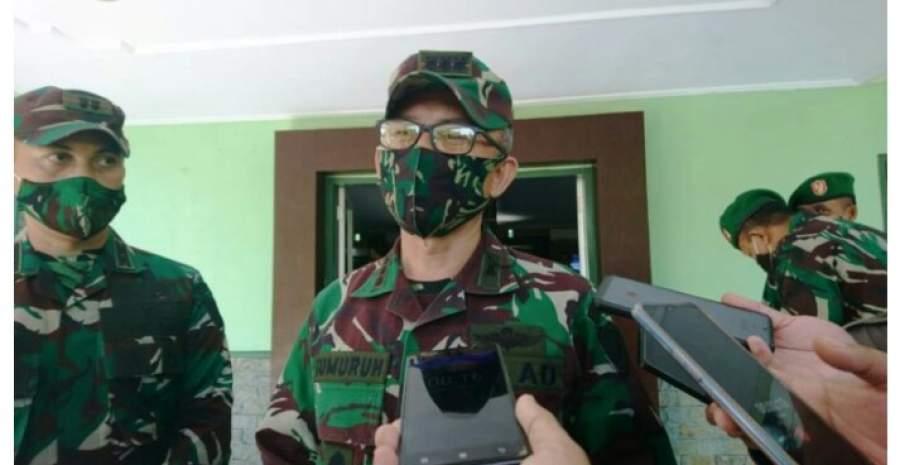 Danrem 064/MY, Kolonel Czi Gumuruh Winardjatmiko, kepada awak media saat mengunjungi Kodim Cilegon, Rabu (3/6).