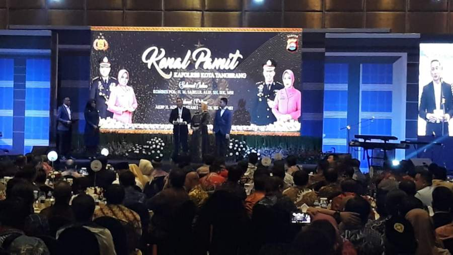 Begini Pesan Kombes Sabilul Alif Pada Acara Kenal Pamit Kapolresta Tangerang