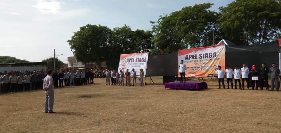 Jelang Masa Kampanye, Bawaslu Kab. Serang Gelar Apel Siaga.