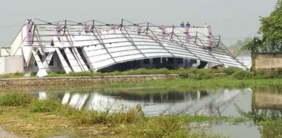 Diterjang Puting Beliung, Stadion Mini Panongan Ambruk