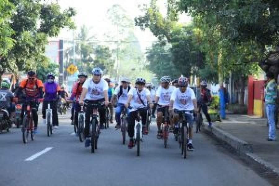 Ribuan Orang Ikuti Funbike Pilkada Damai Kota Tangerang 2018