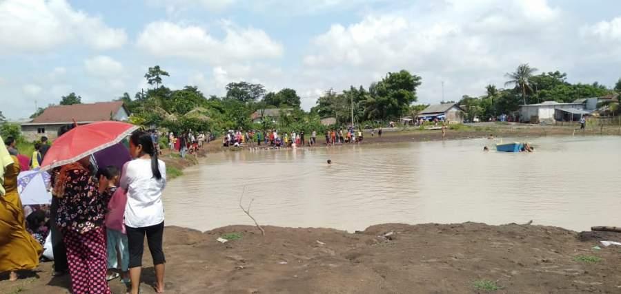 Bekas galian tempat 2 bocah tewas tenggelam.