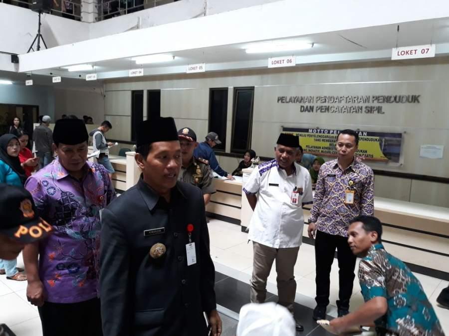 PJ Bupati Tangerang Sidak Dinas Perizinan dan Dinas Catatan Sipil