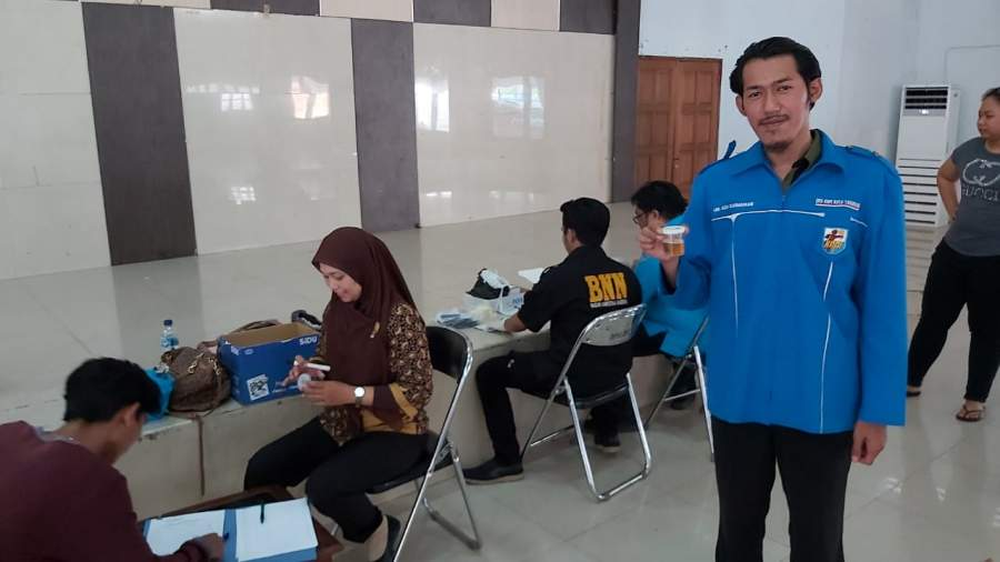 KNPI Gandeng BNN Kota Tangerang, Gelar Tes Urine