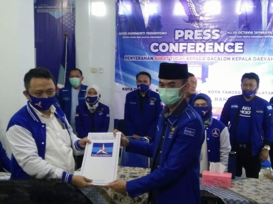 Dapat Rekomendasi Dari Demokrat, Eky Bersiap Lawan Petahana Dalam Pilkada Kabupaten Serang