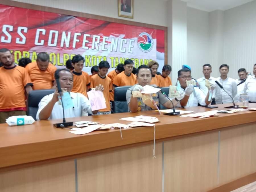 Polresta Tangerang Bekuk 18 Pengedar Narkoba