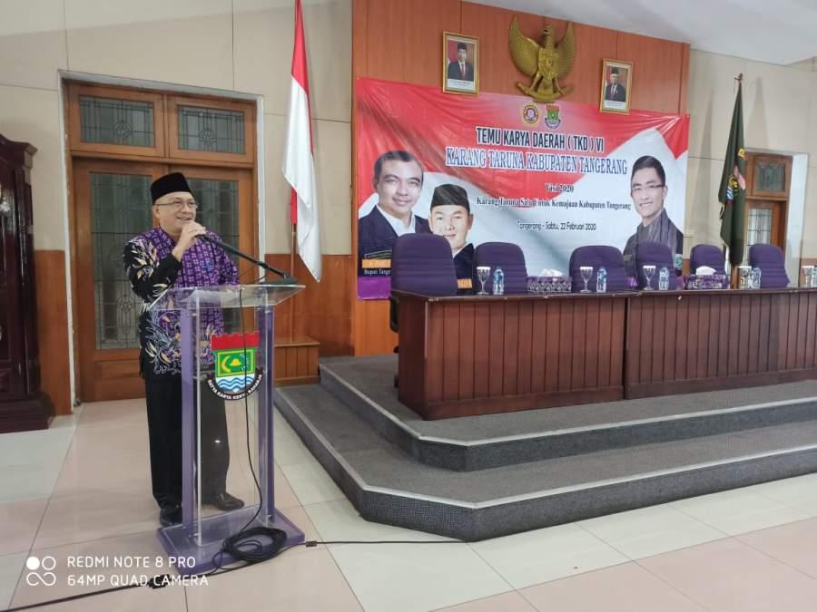 Disporabudpar Resmi Buka TKD Karang Taruna Kabupaten Tangerang