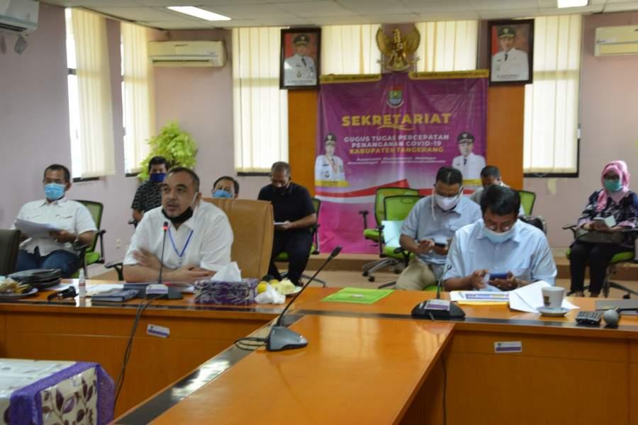 Zaki Rapat Evaluasi Perpanjangan PSBB Melaui Vidcon Bersama Gubernur Banten