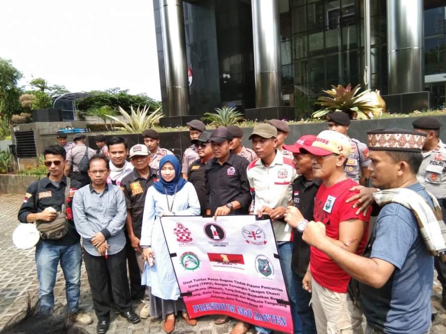 2 Kepala Daerah Dibanten Diduga Terima Dana TPPU Dari TCW, NGO Banten Aksi Depan Gedung KPK