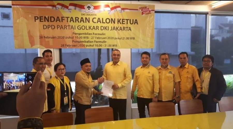 Nyalon Calon Ketua DPD Golkar DKI, Bupati Zaki Serahkan Administrasi