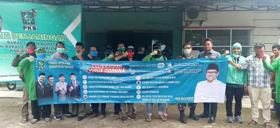 DPC PKB Kabupaten Serang Semprot Disinfektan
