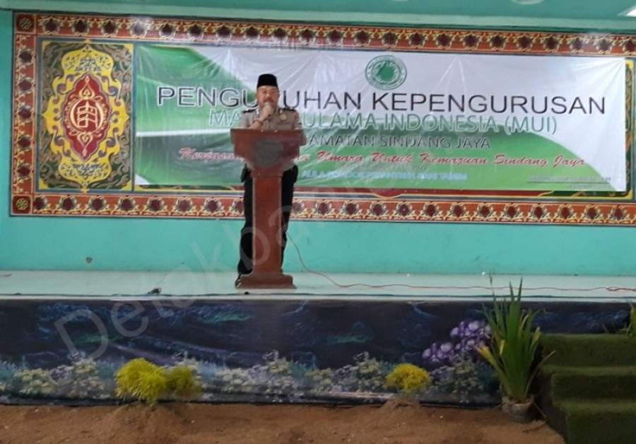 120 Aparat Kepolisian Jaga Pengukuhan MUI Kecamatan Sindang Jaya