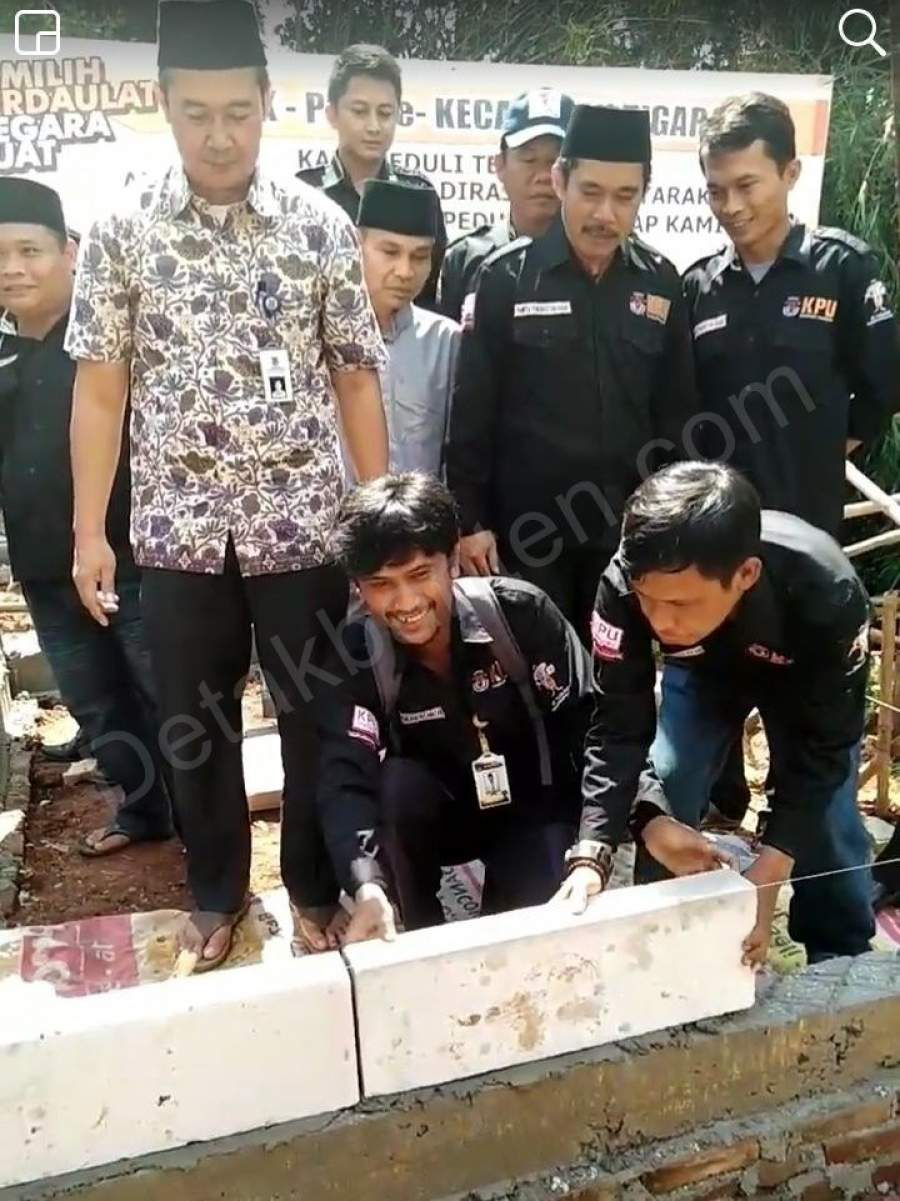 PPK dan PPS Kecamatan Tigaraksa Swadaya Bangun Rumah Kumuh