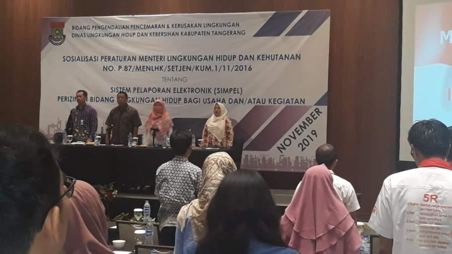 DLHK Kabupaten Tangerang Sosialisasikan Permen No 87 tahun 2016