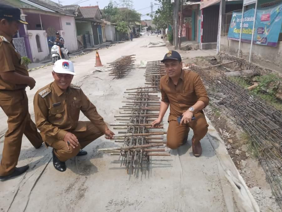 Walikota Serang Tinjau 2 Pembangunan Jalan Lingkungan