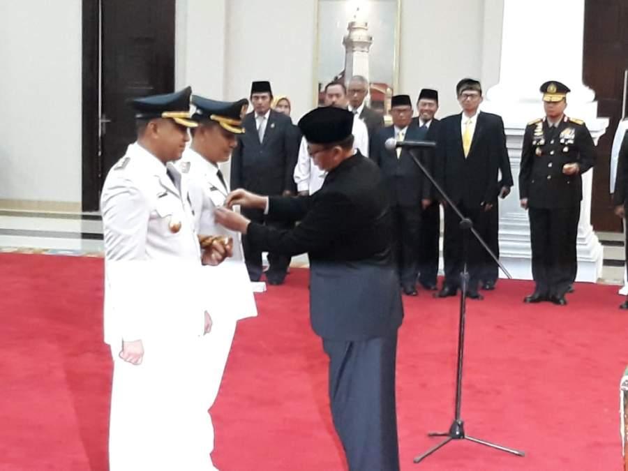 Zaki - Mad Romli Resmi Jabat Bupati Tangerang