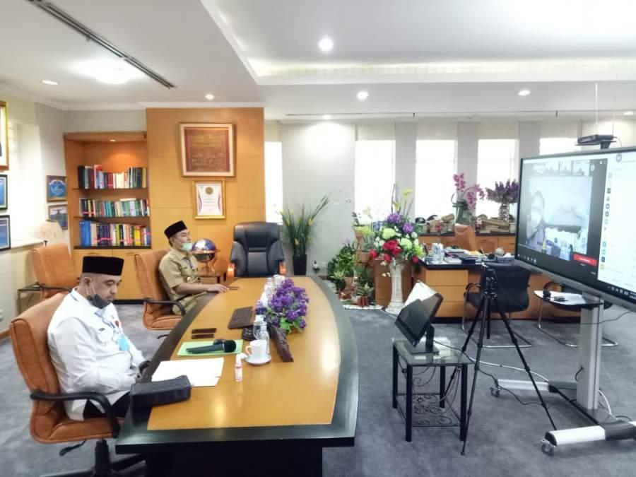 Bupati Dan Wakil Bupati Tangerang Gelar Halal Bihalal Lewat Online Karena Pandemi Covid 19