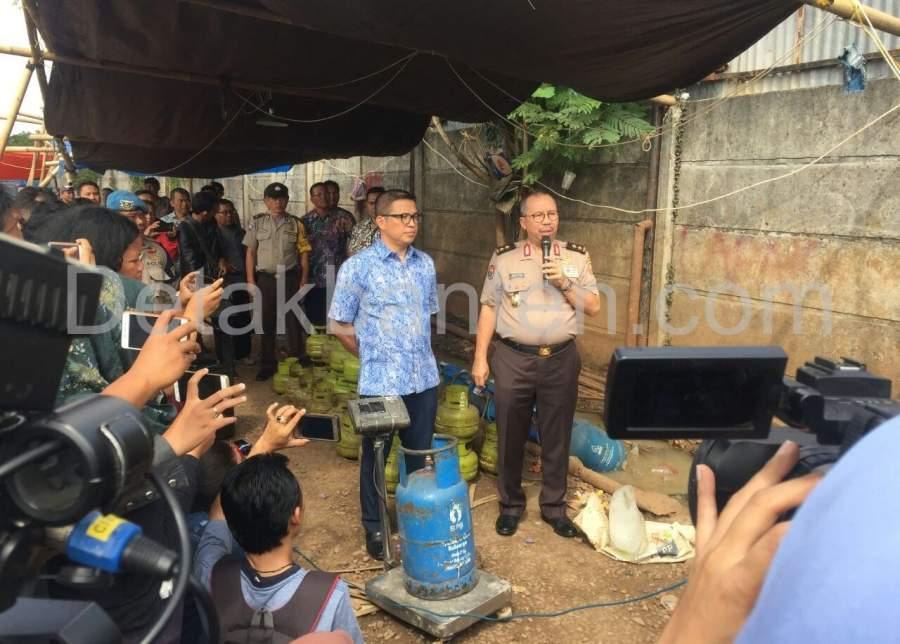 Mabes Polri Gerebek Gudang Gas Oplosan di Cipondoh