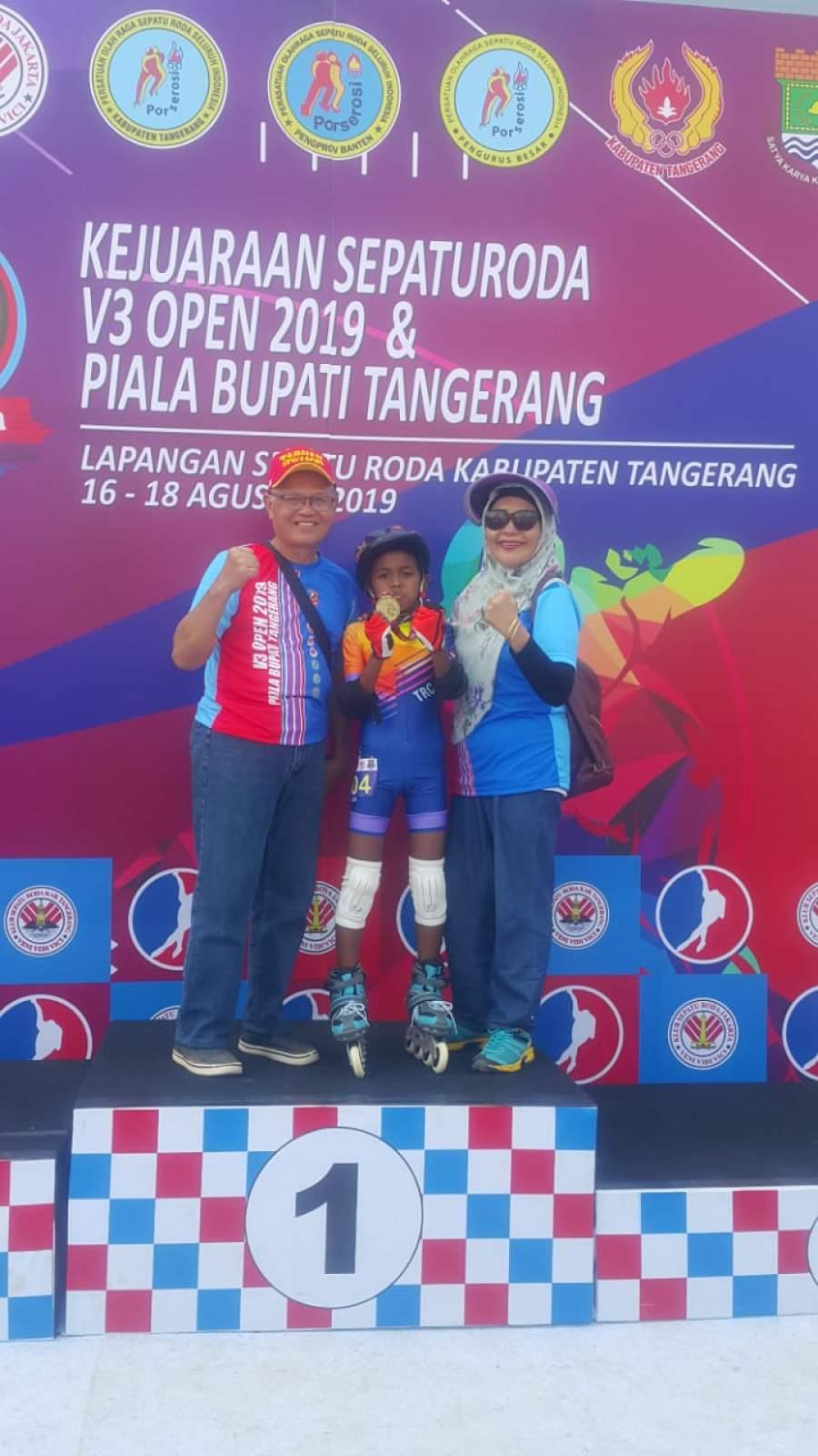 Turnamen Internasional, Atlit Sepatu Roda Cilik Asal Tangerang Sabet Medali Emas