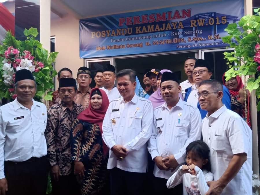 Perdana, Posyandu Kamjaya Diresmikan Walikota Serang