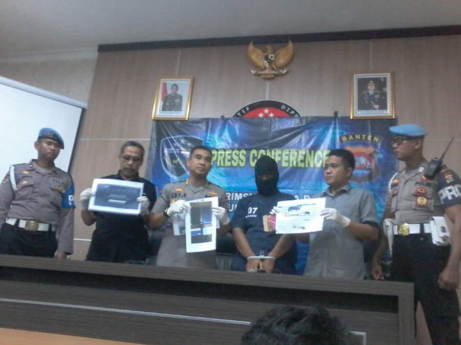 Palsukan Akun Facebook Untuk Menipu, Seorang Pria Diringkus Subdit V Ditreskrimsus Polda Banten