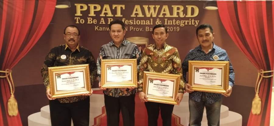 Camat Jayanti Raih Penghargaan Awards Dari Mentri Agraria