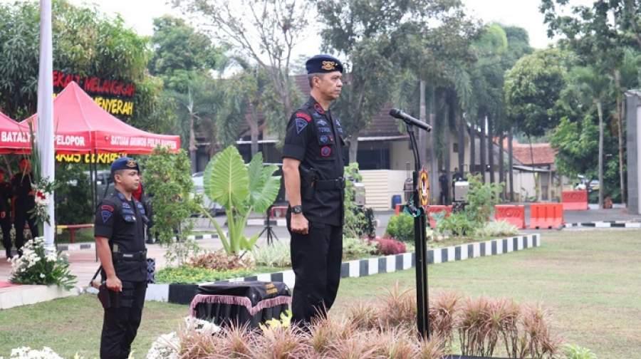 Wakapolda Banten Pimpin Upacara Peringatan HUT Brimob ke 74 Tahun