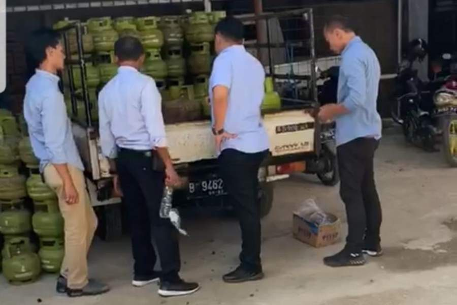 Ditreskrimsus Polda Banten Sita Ratusan Tabung Gas Melon Tampa Izin