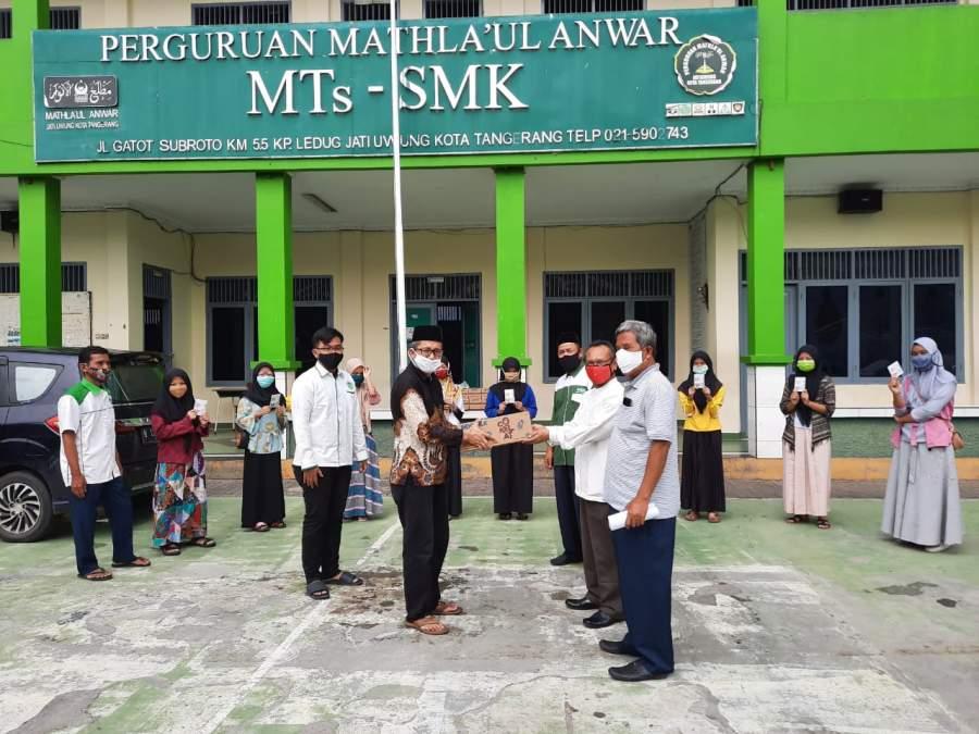 Silaturahmi Idul Fitri, Ketum GEMA-MA Salurkan Bantuan Kementrian BUMN.