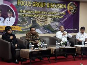 Bahas Pendidikan E- Learning , Zaki Gelar Focus Group Discusion